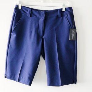 NWT Nine & Nine Ladies Navy Golf Shorts